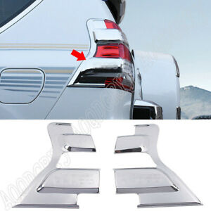 For Toyota Prado 150 2014 2017 Abs Chrome Rear Taillight Moulding Trim Cover 2pc