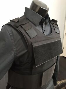 Bulletproof Carrier Vest Made With Kevlar Plates Body Armor Inserts Bullet Proof $219.00