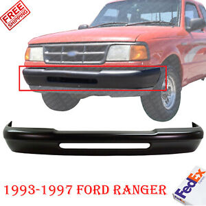 Front Bumper Primed Without Molding Holes For 1993 1997 Ford Ranger