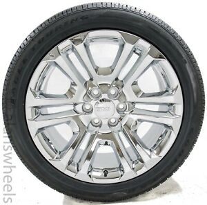 4 New Gmc Sierra Yukon Denali Factory Oem Chrome 22 Wheels Rims Tires Ck158