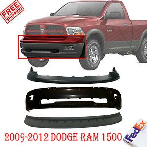 Front Bumper Primed Upper Cover Lower Valance For 2009 2012 Dodge Ram 1500