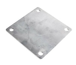 Base Plate Steel 4x4 8ga Rounded Corners 10 Pack