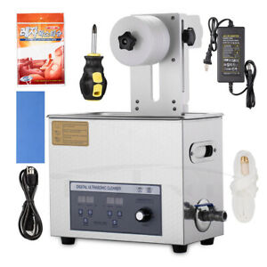 New 6l Ultrasonic Vinyl Record Cleaner Cleaning Machine With Lifting Drying Rack
