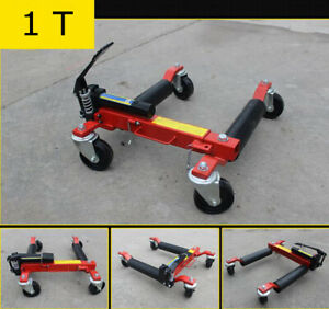 2200 Lb Hydraulic Car Wheel Dolly Jack Portable Tire Lift Car Move Positioning