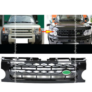 For Land Rover Discovery Lr3 05 09 Black Front Bumper Grille Assembly Facelift