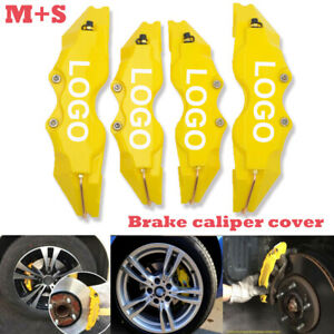 A2 3d Style Car Universal Disc Brake Caliper Covers Front Rear Kit Yellow 4pcs