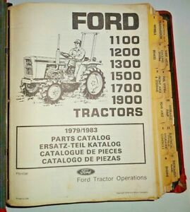 Ford 1100 1200 1300 1500 1700 1900 Tractor Parts Catalog In Nh Binder Original