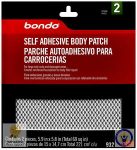 3m Bondo 932 Pack Of 2 Self Adhesive Body Patch 5 9 X 5 8