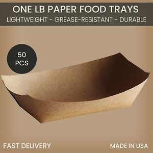 1lb Paper Food Trays
