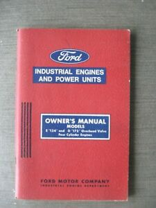 Ford Owners Manual Models E 134 D 172 Overhead Valve 4 Cylinder Engines 1966