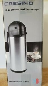Airpot Coffee Dispenser Pump Stainless Steel Carafe 3 L Used Only Once