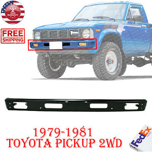 Front Bumper Painted Black Steel For 1979 1981 Toyota Pickup 2wd 5211189110