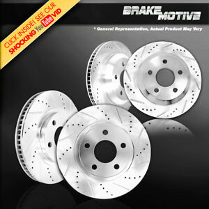Front And Rear Drilled Slotted Brake Rotors For 2014 2018 Mini Cooper