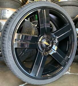 26 Gmc Yukon Sierra Texas Edition Black Wheels Chevy Tahoe Silverado Rims Tires