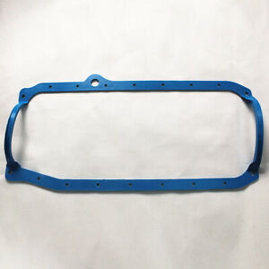1 Piece Oil Pan Gasket Blue 86 Up Late Fits Sb 05 350 383 400 For Chevy