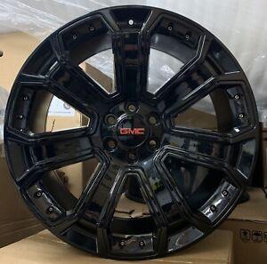 24 Gmc Yukon Sierra Denali 1500 Black Wheels Tires Rims Chevy Silverado Tahoe
