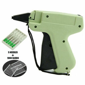 Clothes Garment Price Label Tagging Tag Gun Machine 1000 Barbs 5 Steel Needle Us