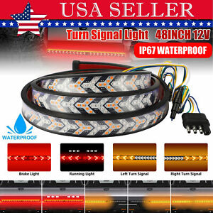 48 Inch Truck Tailgate Led Light Bar Brake Reverse Turn Signal Stop Tail Strip