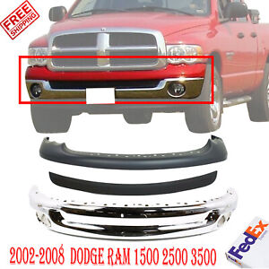 Front Bumper Chrome Up Cover Molding For 2002 2005 Dodge Ram 1500 2500 3500