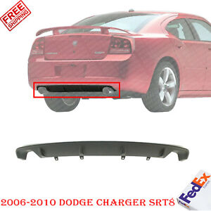 Rear Lower Valance Panel Textured For 2006 2010 Dodge Charger Srt8