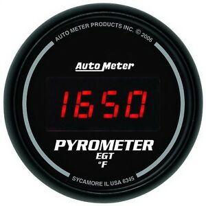 Autometer 6345 Sport comp Digital Pyrometer Gauge