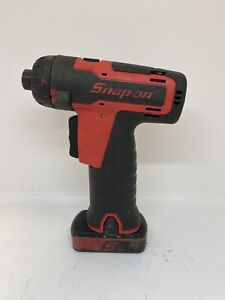 Snap on Tools Red 14 4 V 1 4 Microlithium Cordless Screwdriver Cts761a