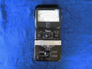 Simpson 260 Vom Model 3 With Rare Wattmeter Accessory calibrated