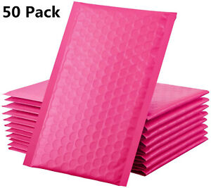 50 Poly Bubble Mailers 4x8 Padded Envelopes Shipping Mailing Bags Self Seal 000
