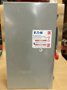 New Eaton Dh364ugk 200 Amp 600v 3ph Non fused Safety Switch Disconnect Flaw