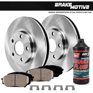 Front 296 Mm Brake Rotors And Ceramic Pads For 2002 2003 Toyota Camry V6 Se Xle