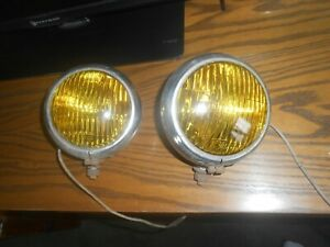 Vintage Fog Lamp Early Auto Truck Amber Lights
