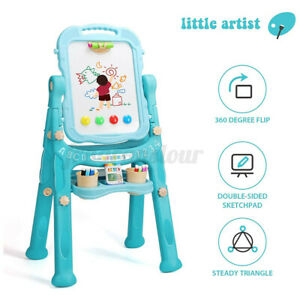 Children Double sided Magnetic Standing Art Easel Drawing Board Whiteboard Usa