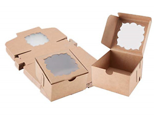 50 Pack Bakery Boxes With Window Pastry Boxes Dessert Boxes Treat Boxes Cookie