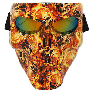 Skull Airsoft Tactical Mask Full Face Protective Paintball Skeleton w Goggles US $17.89