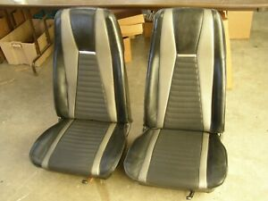 Oem Ford 1971 1972 1973 Mustang Mach 1 Front Seats Pair Seat Covers