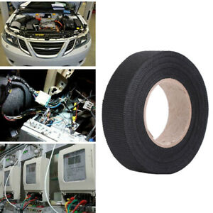 19mm 15m Adhesive Wiring Harness Cloth Tape For Car Automotive Heat Resistant Us