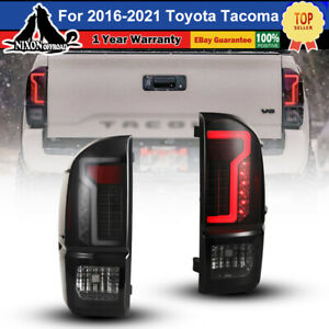 Custom Taillights For 2016 2021 Toyota Tacoma 3rd Gen Led Tail Lights Black Pair
