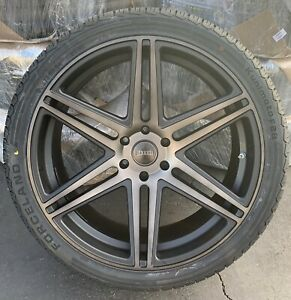 24 Dub Skillz S123 Black Tint Chevy Tahoe Gmc Yukon Escalade Wheels Tires 6lug
