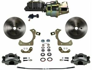 Leed Brakes Fc1010 k105 Front Disc Brake Kit W Factory Spindles Chevy Tri five
