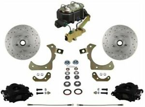 Leed Brakes Fc1010 3a1x Front Disc Brake Kit W Factory Spindles Chevy Tri five