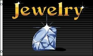 Jewelry Flag Jewel Store Banner Advertising Pennant Business Jewels Sign 3x5