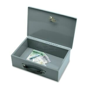 Sparco All steel Insulated Cash Box 1 each Grey