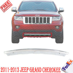 Front Bumper Lower Valance Air Dam Chrome For 2011 2013 Jeep Grand Cherokee
