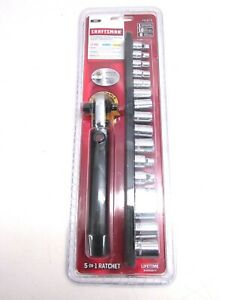 New Craftsman Tools 1 4 3 8 Drive Sae Socket Set Extendable Wobble Ratchet