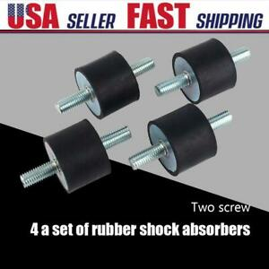 4 New Rubber Anti Vibration Mounts M10 Noise Control Isolator Shock Damper Tools