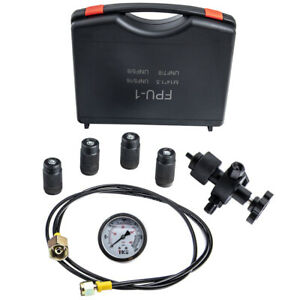 Hydraulic Accumulator Pressure Test Nitrogen Charging Hose Gauge Tool Kit