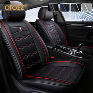 Leather Car Seat Cover Full Set Waterproof Leather Universal For Sedan Suv Truck