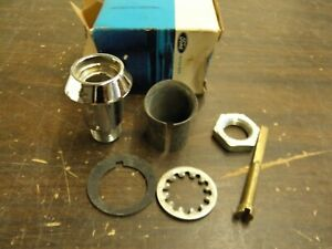 Nos Oem Ford 1964 1965 Falcon Trunk Lock Cylinder Sleeve Kit Bezel