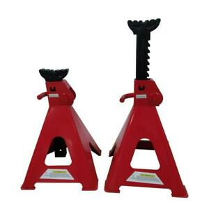 High Qualuty 12 Ton Jack Stands Red For Car vehicle Maximum Height 29 2 5