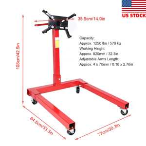 1250lbs Car Engine Gearbox Mount Support Stand Workshop Maintenance Equipment